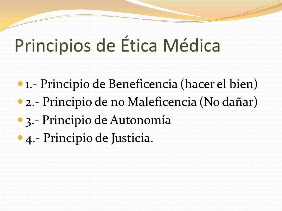 Principios de Ética Médica