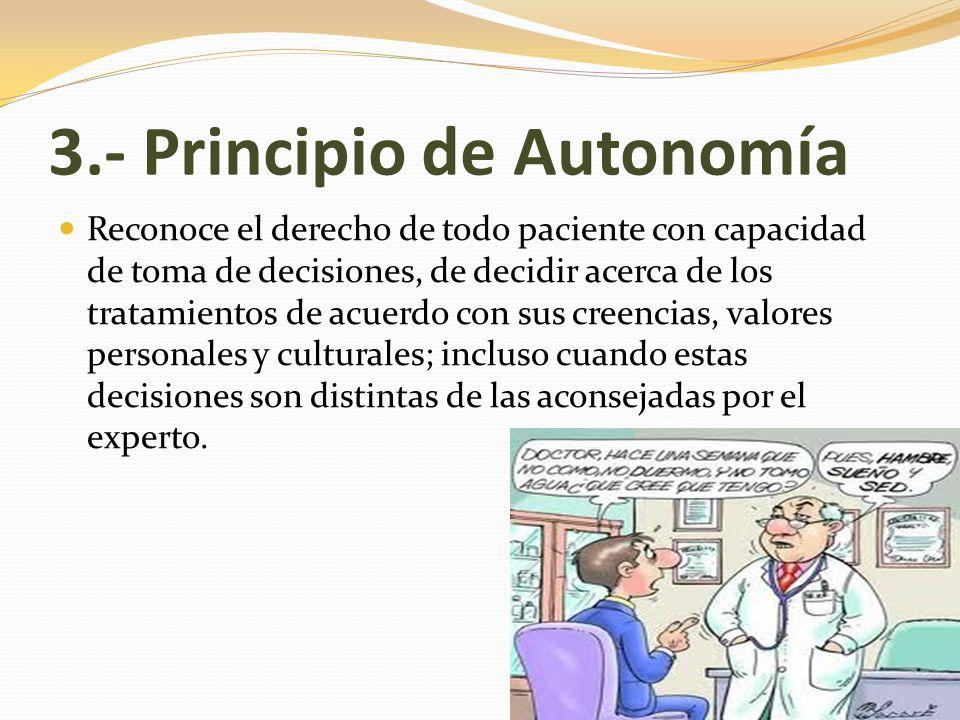 3.- Principio de Autonomía