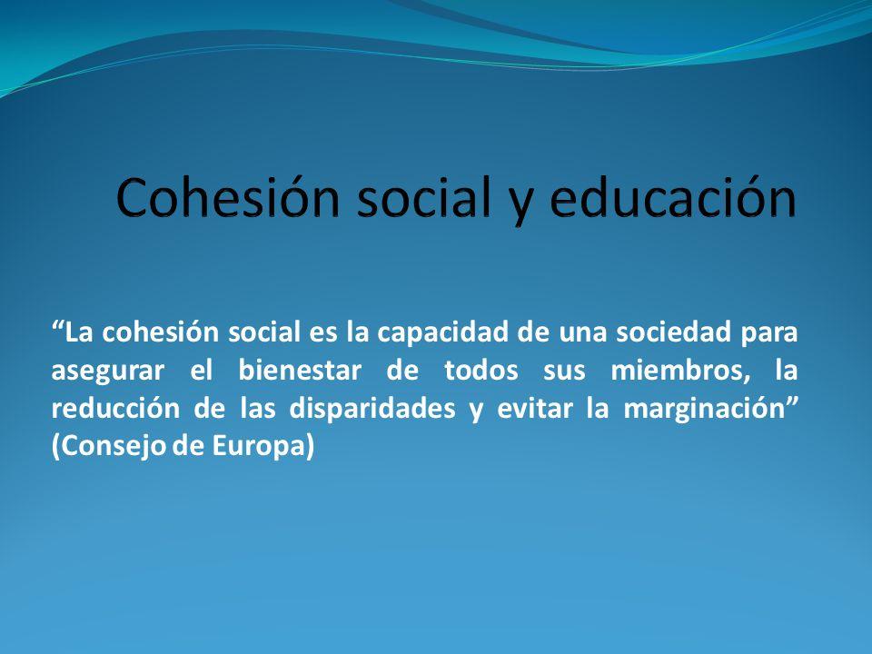 Cohesión social y educación