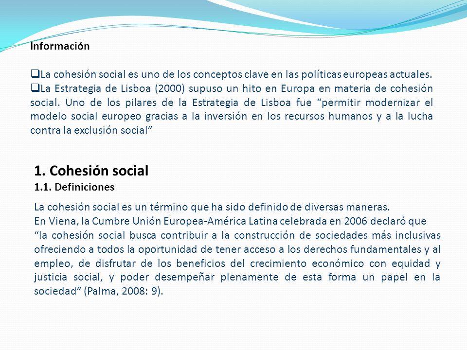 1. Cohesión social Información