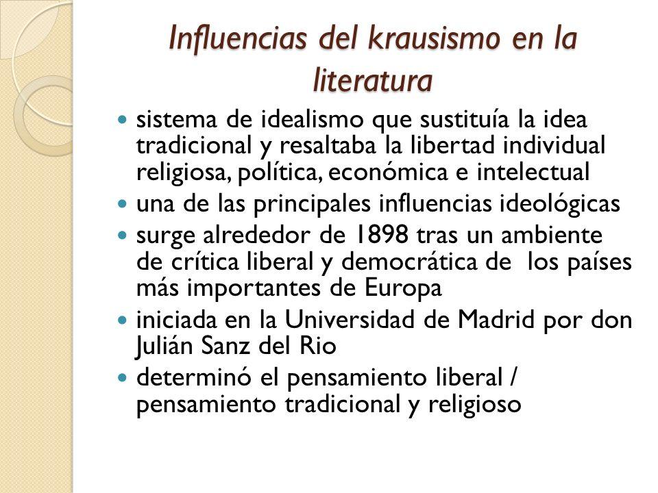 Influencias del krausismo en la literatura