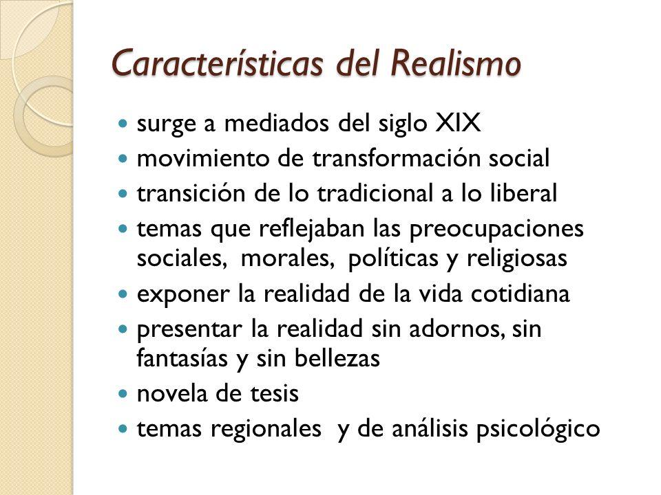 Características del Realismo
