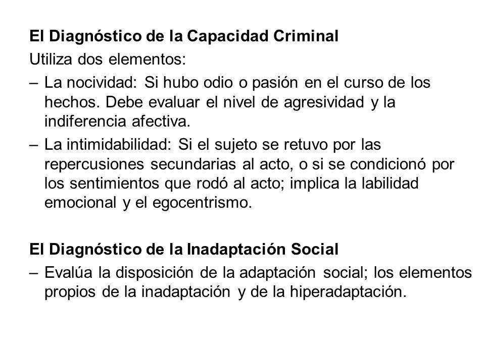 El Diagnóstico de la Capacidad Criminal