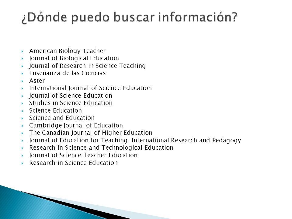 ¿Dónde puedo buscar información