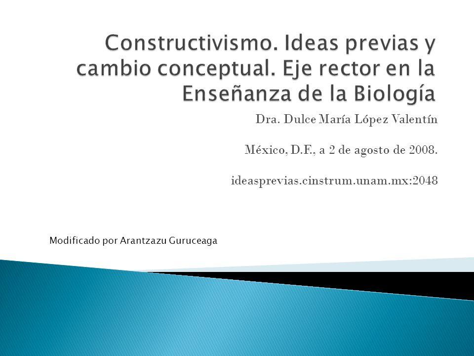 Constructivismo. Ideas previas y cambio conceptual