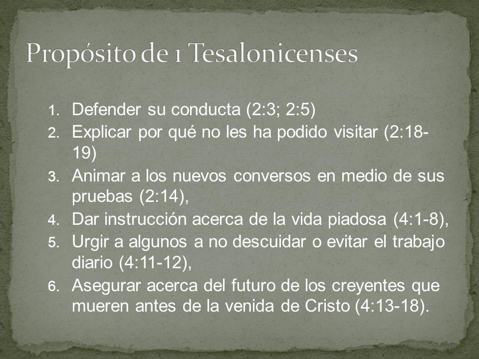 Propósito de 1 Tesalonicenses
