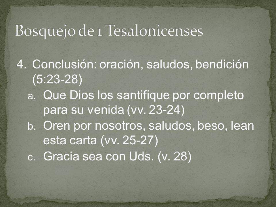 Bosquejo de 1 Tesalonicenses