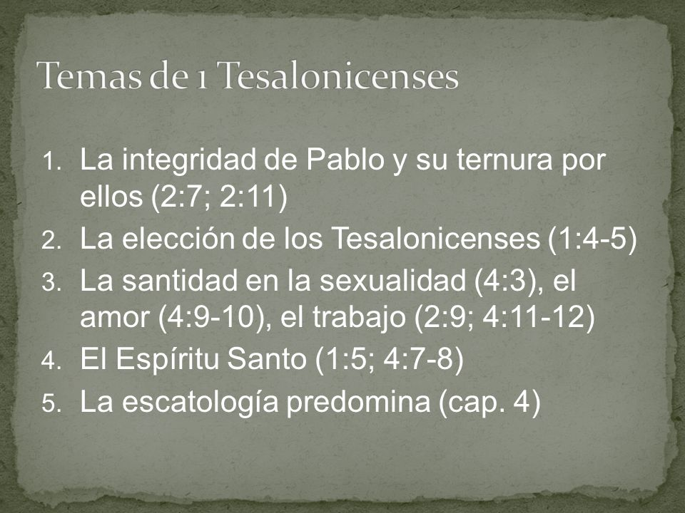 Temas de 1 Tesalonicenses