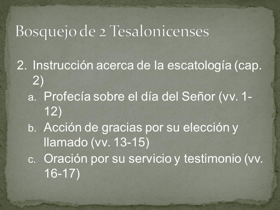 Bosquejo de 2 Tesalonicenses