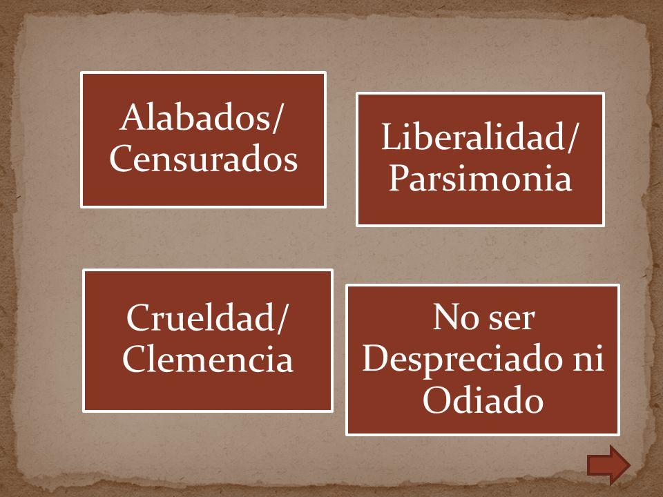 Liberalidad/ Parsimonia
