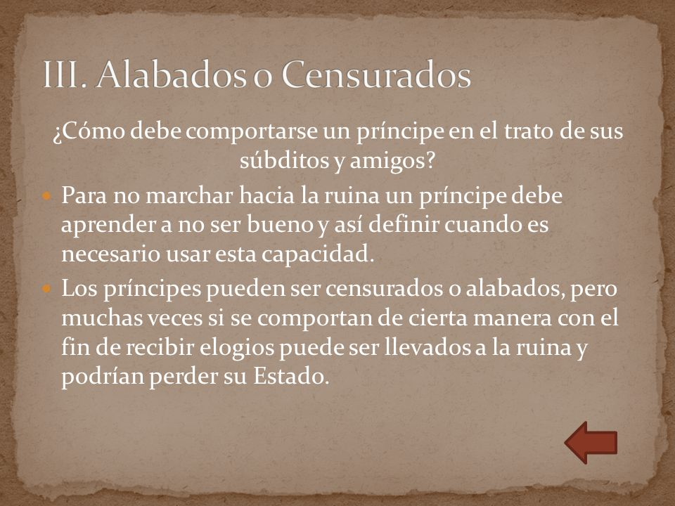 III. Alabados o Censurados