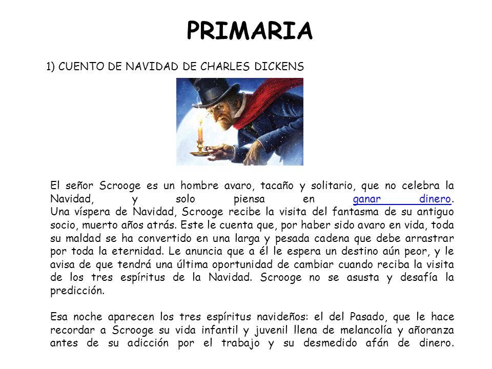 PRIMARIA español e inglés 1) CUENTO DE NAVIDAD DE CHARLES DICKENS