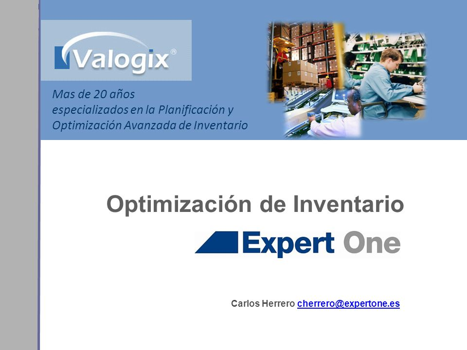 Optimización de Inventario