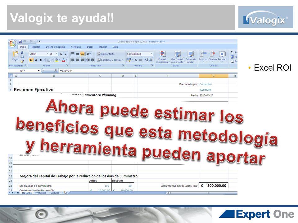 Valogix te ayuda!! Excel ROI. Ahora puede estimar los beneficios que esta metodología y herramienta pueden aportar.