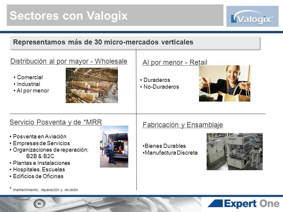 Sectores con Valogix Representamos más de 30 micro-mercados verticales