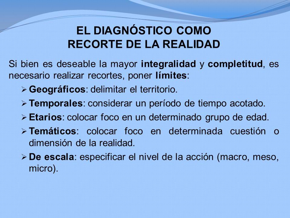 EL DIAGNÓSTICO COMO RECORTE DE LA REALIDAD