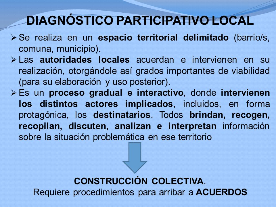 DIAGNÓSTICO PARTICIPATIVO LOCAL