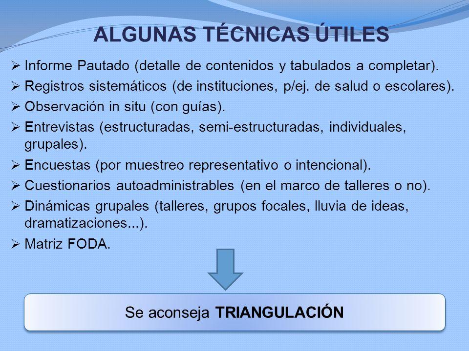 ALGUNAS TÉCNICAS ÚTILES