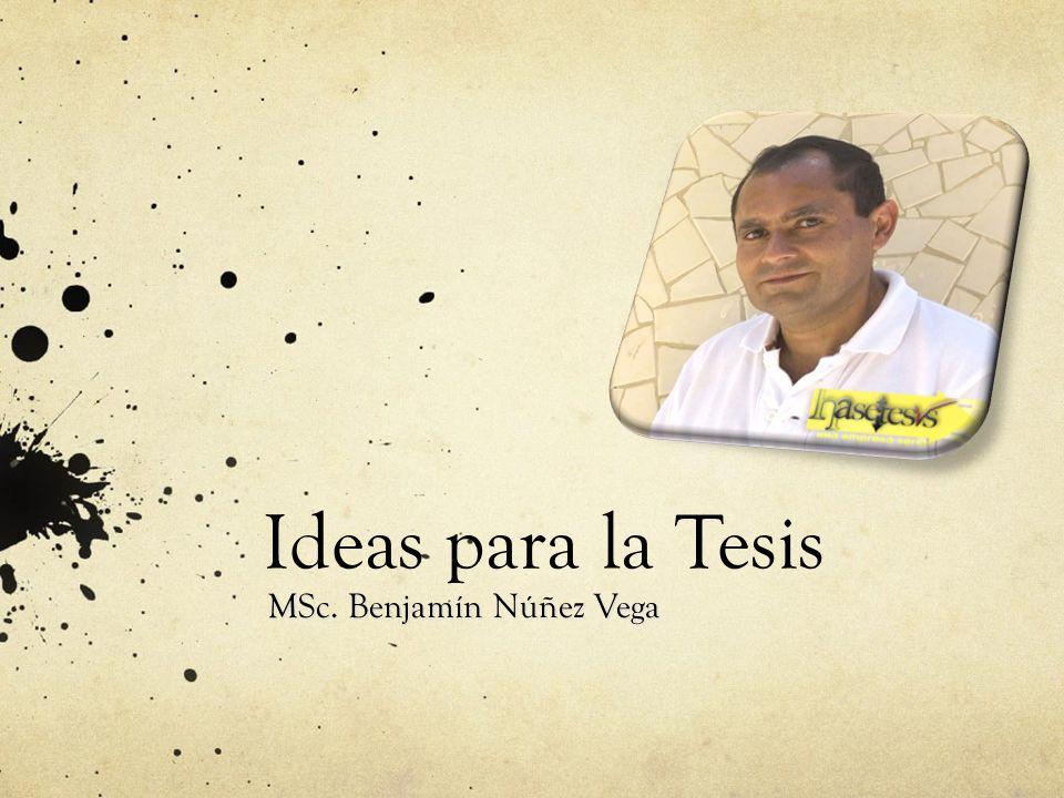 MSc. Benjamín Núñez Vega