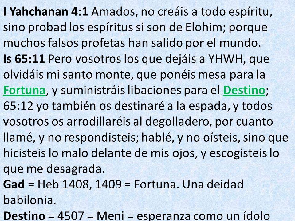I Yahchanan 4:1 Amados, no creáis a todo espíritu, sino probad los espíritus si son de Elohim; porque muchos falsos profetas han salido por el mundo.