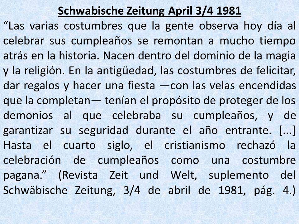 Schwabische Zeitung April 3/4 1981