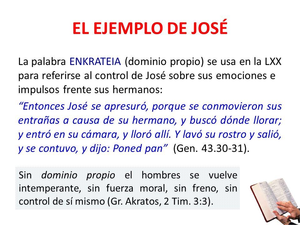 EL EJEMPLO DE JOSÉ