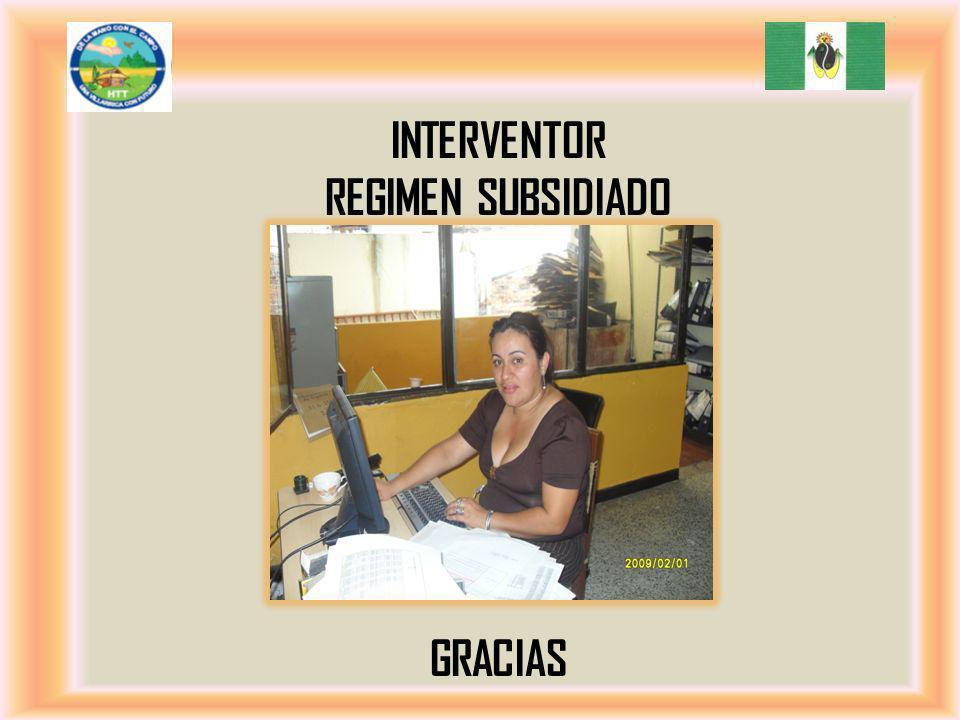 IntErventor regimen subsidiado GRACIAS