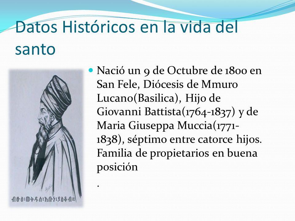 Datos Históricos en la vida del santo