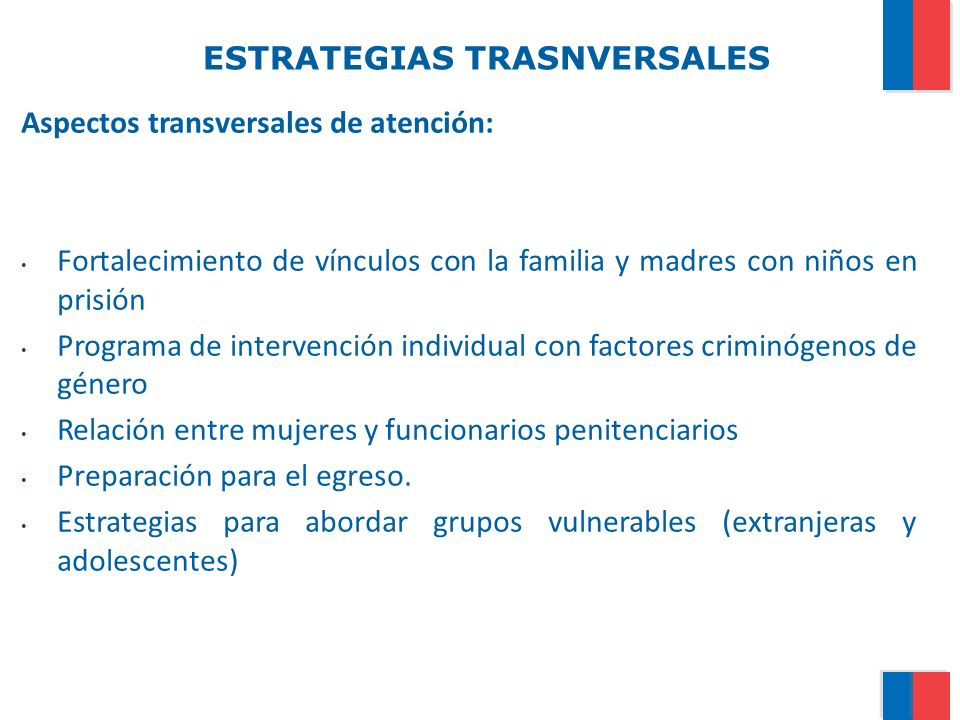 ESTRATEGIAS TRASNVERSALES