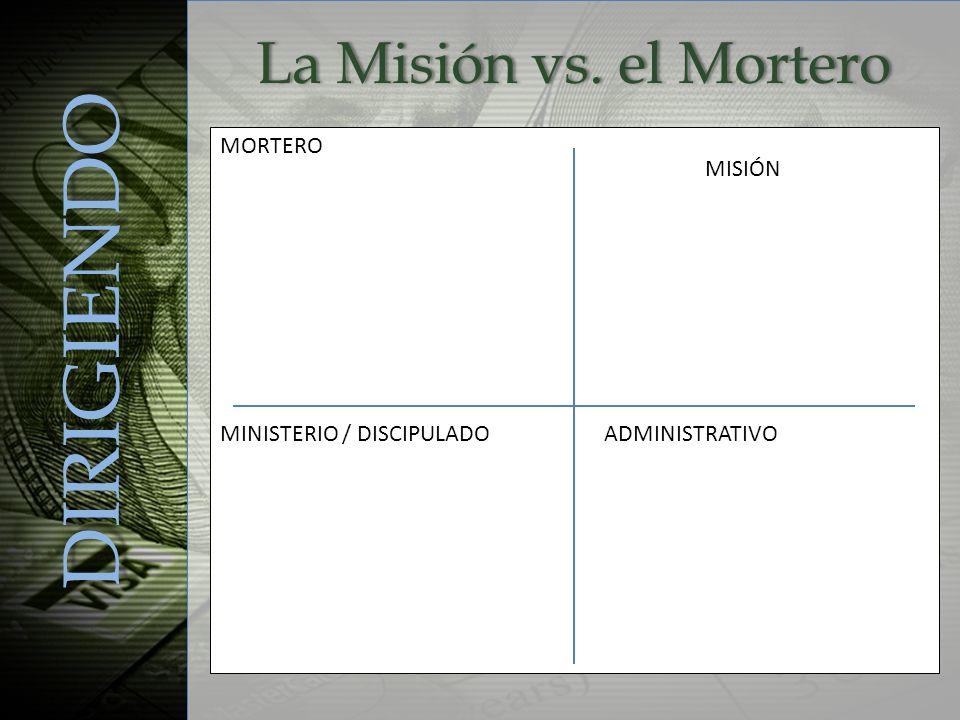 DIRIGIENDO La Misión vs. el Mortero MORTERO MISIÓN
