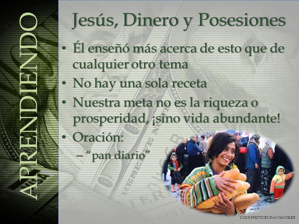 Jesús, Dinero y Posesiones
