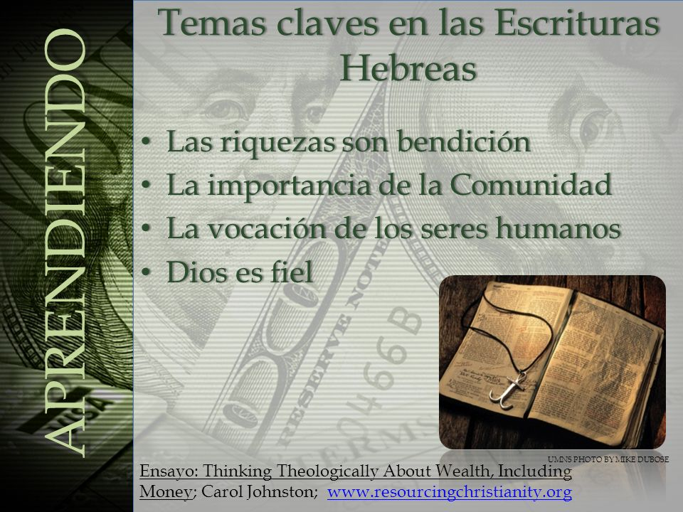 Temas claves en las Escrituras Hebreas