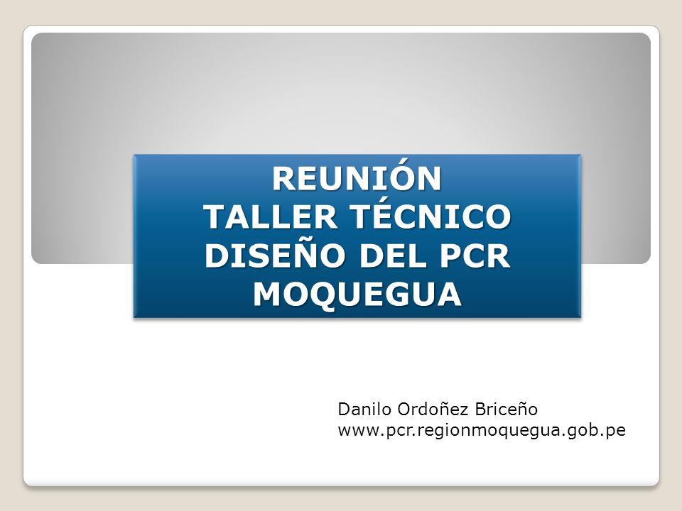 TALLER TÉCNICO DISEÑO DEL PCR