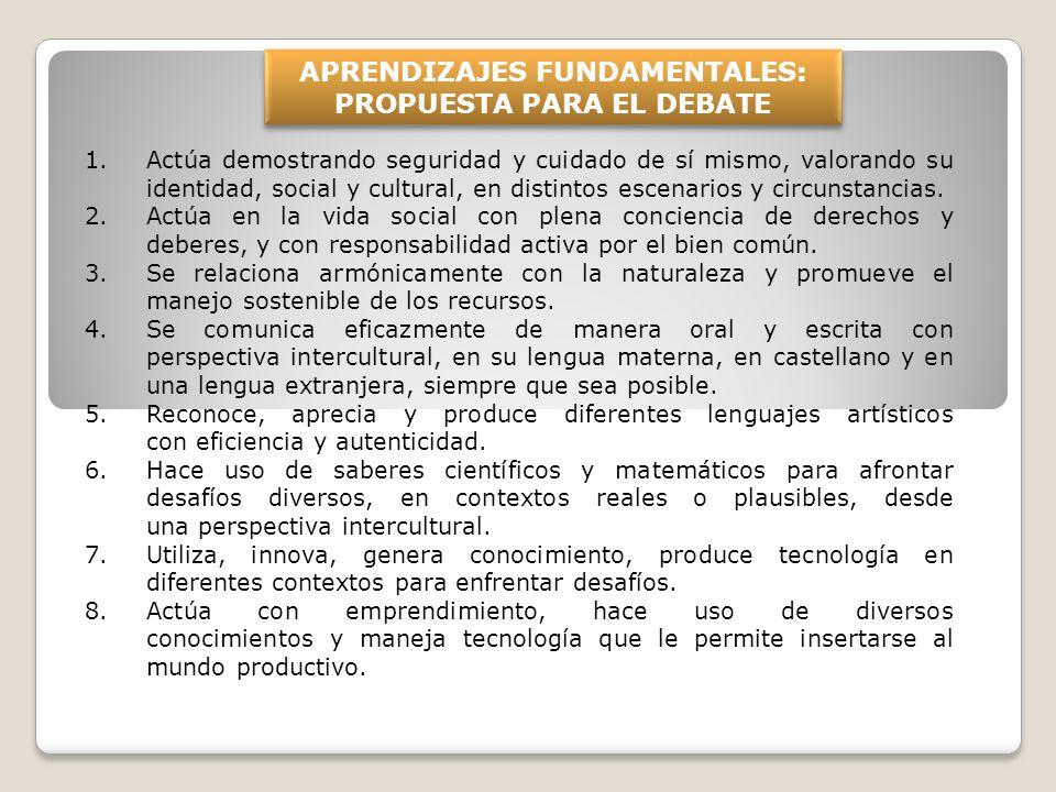 APRENDIZAJES FUNDAMENTALES: PROPUESTA PARA EL DEBATE