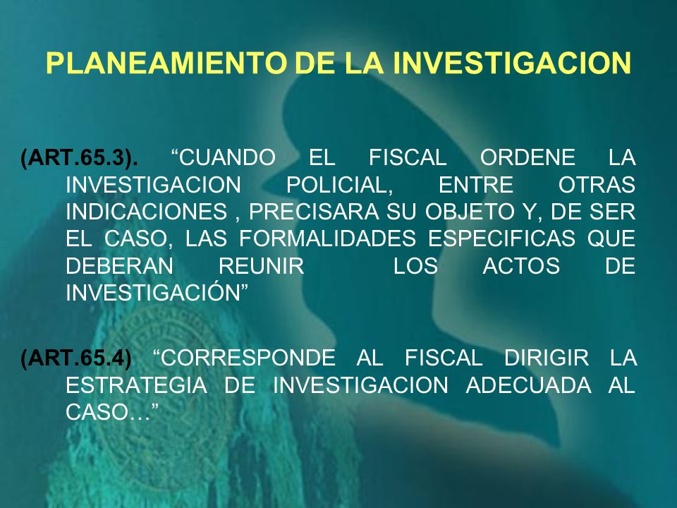 PLANEAMIENTO DE LA INVESTIGACION