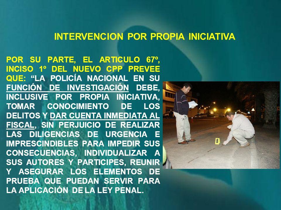 INTERVENCION POR PROPIA INICIATIVA