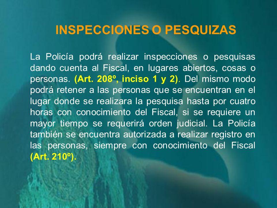 INSPECCIONES O PESQUIZAS