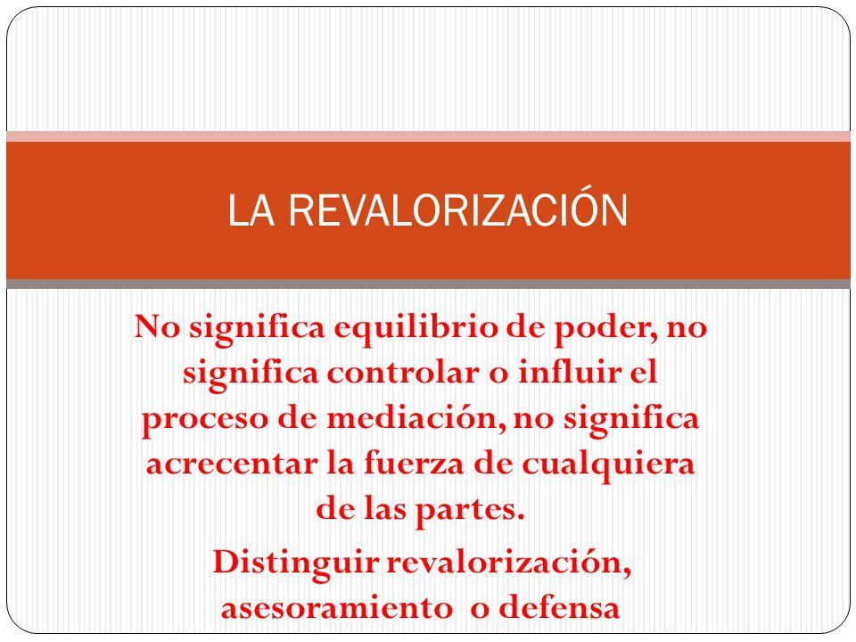 Distinguir revalorización, asesoramiento o defensa