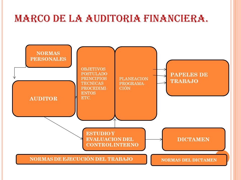 MARCO DE LA AUDITORIA FINANCIERA.