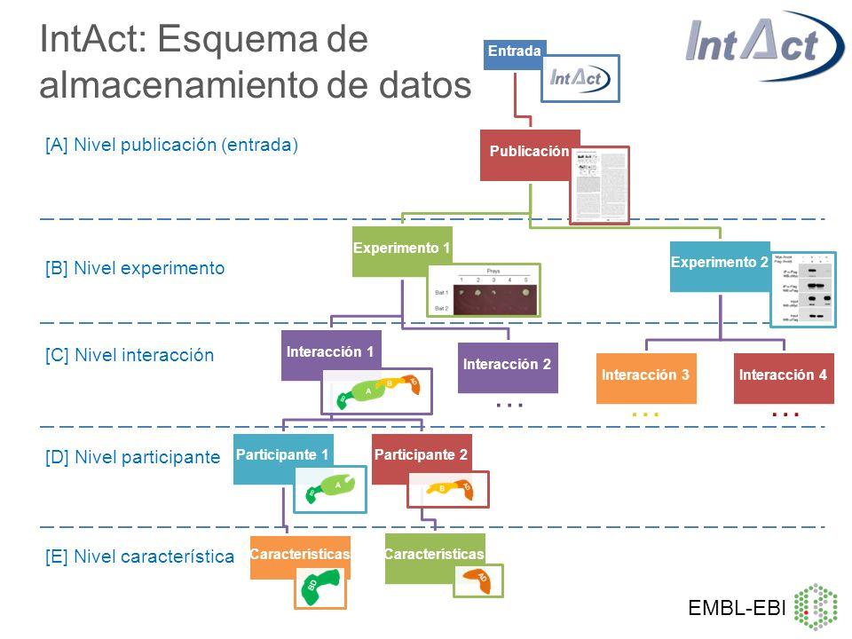IntAct: Esquema de almacenamiento de datos