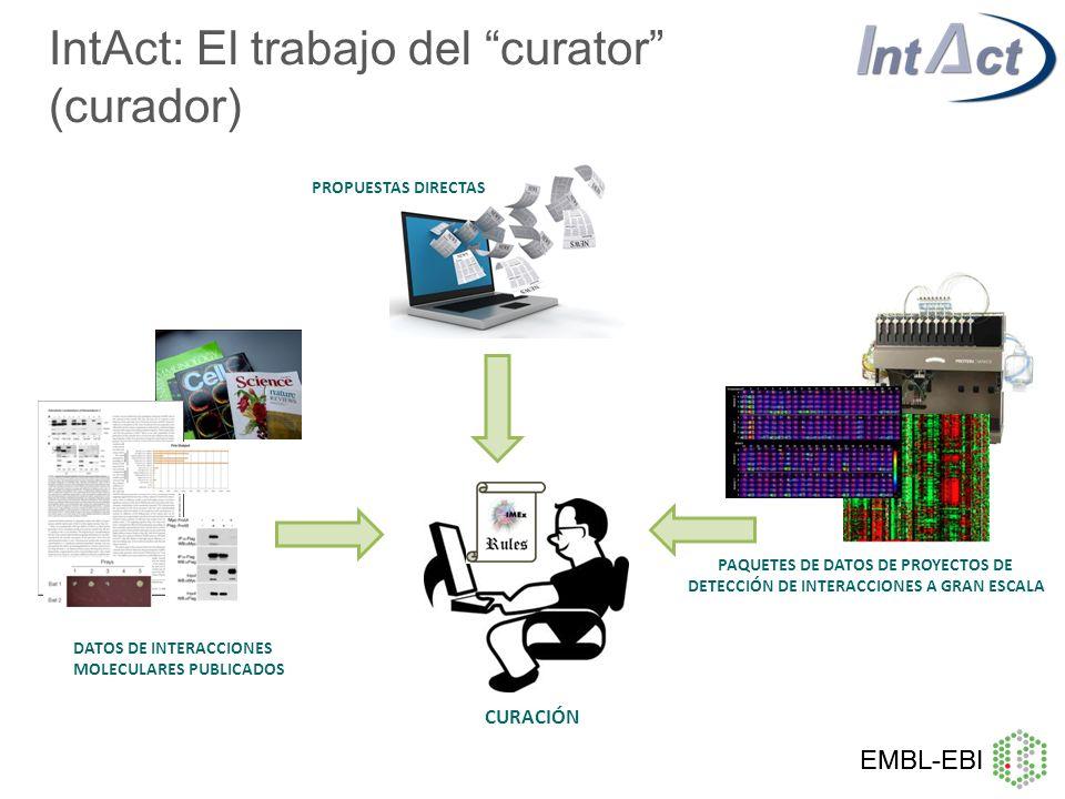 IntAct: El trabajo del curator (curador)