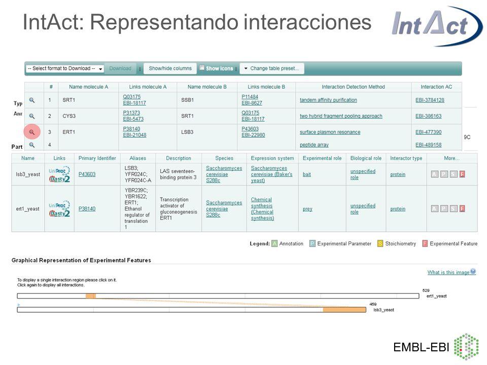 IntAct: Representando interacciones