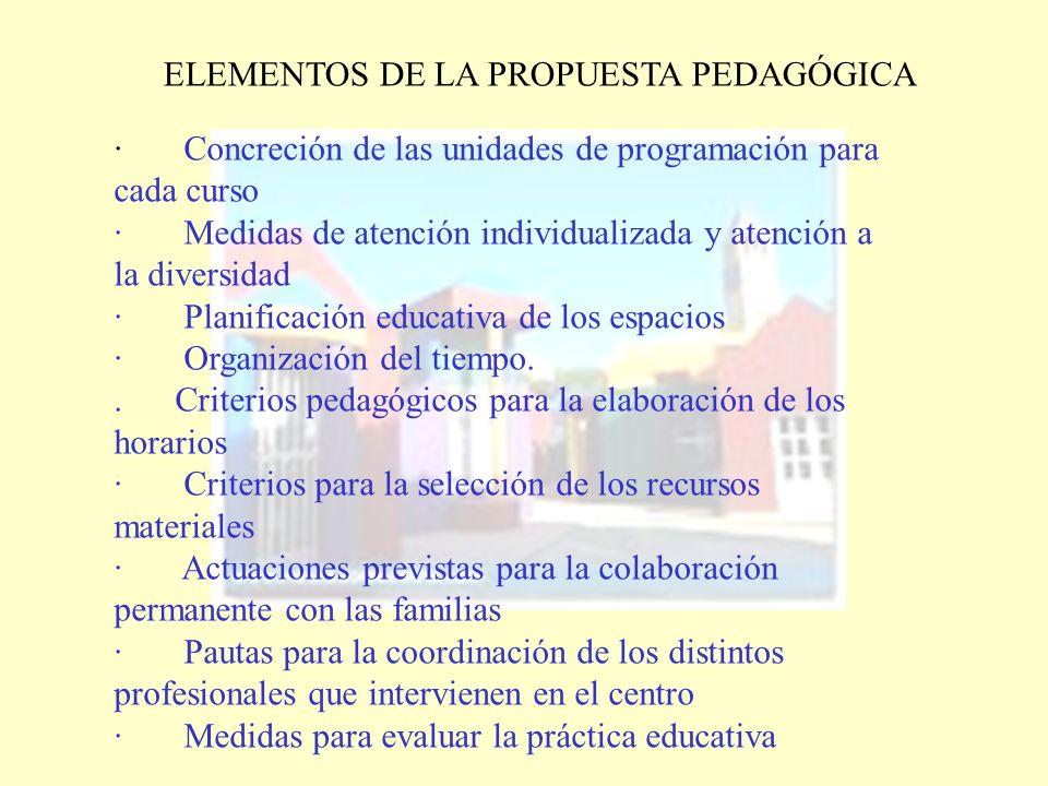 ELEMENTOS DE LA PROPUESTA PEDAGÓGICA