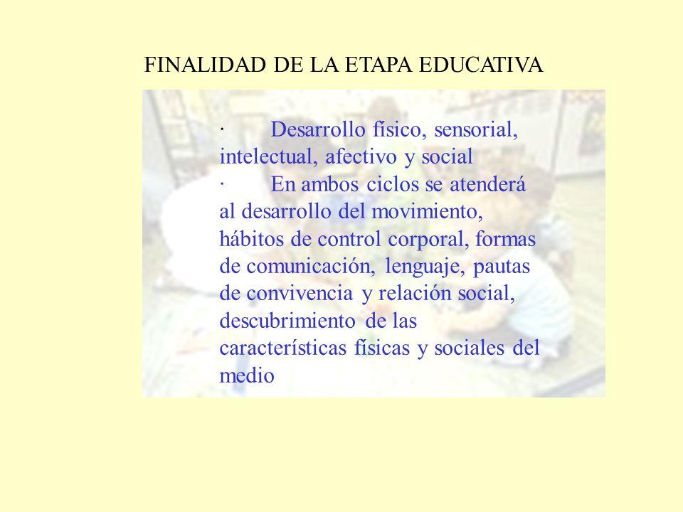 FINALIDAD DE LA ETAPA EDUCATIVA