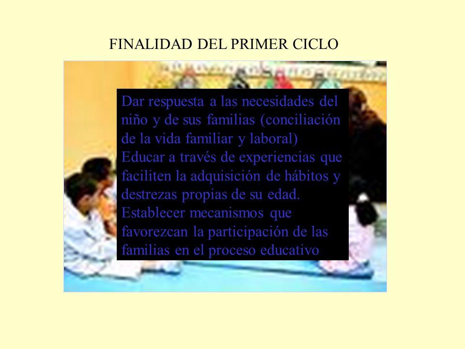 FINALIDAD DEL PRIMER CICLO