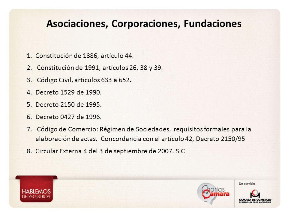 Asociaciones, Corporaciones, Fundaciones