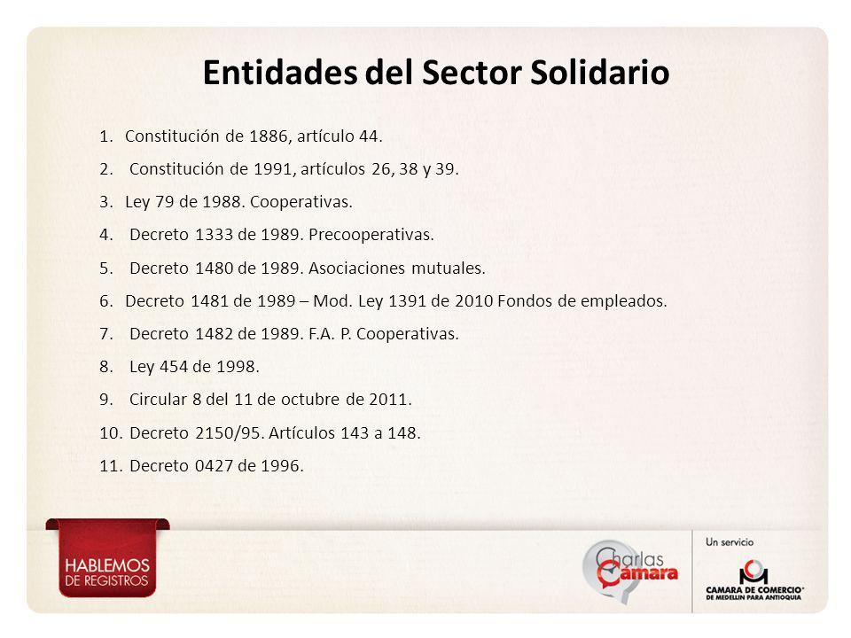 Entidades del Sector Solidario
