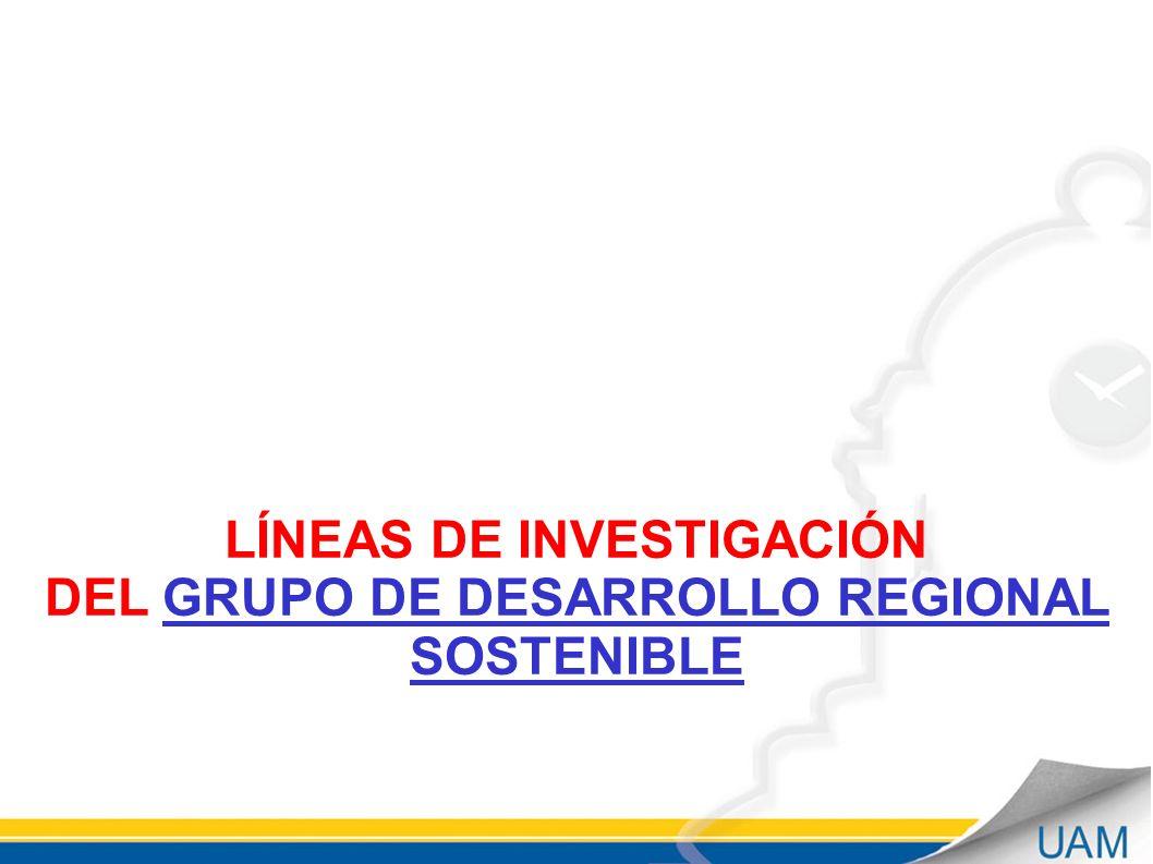 LÍNEAS DE INVESTIGACIÓN DEL GRUPO DE DESARROLLO REGIONAL SOSTENIBLE