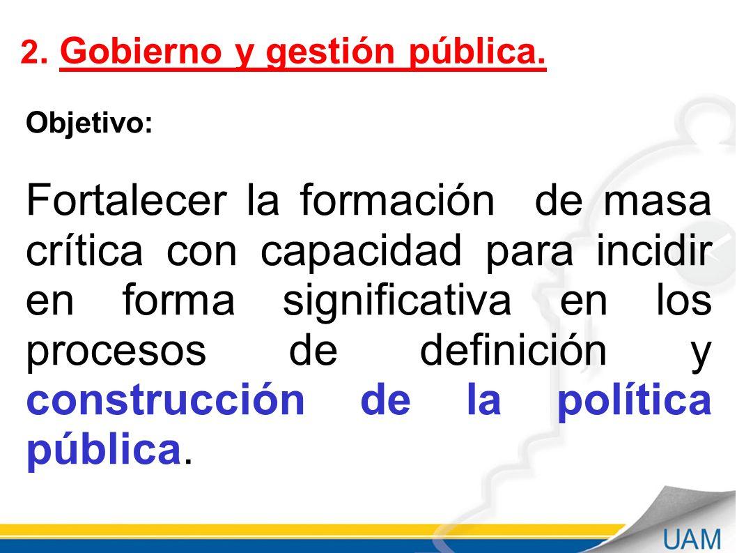 2. Gobierno y gestión pública.