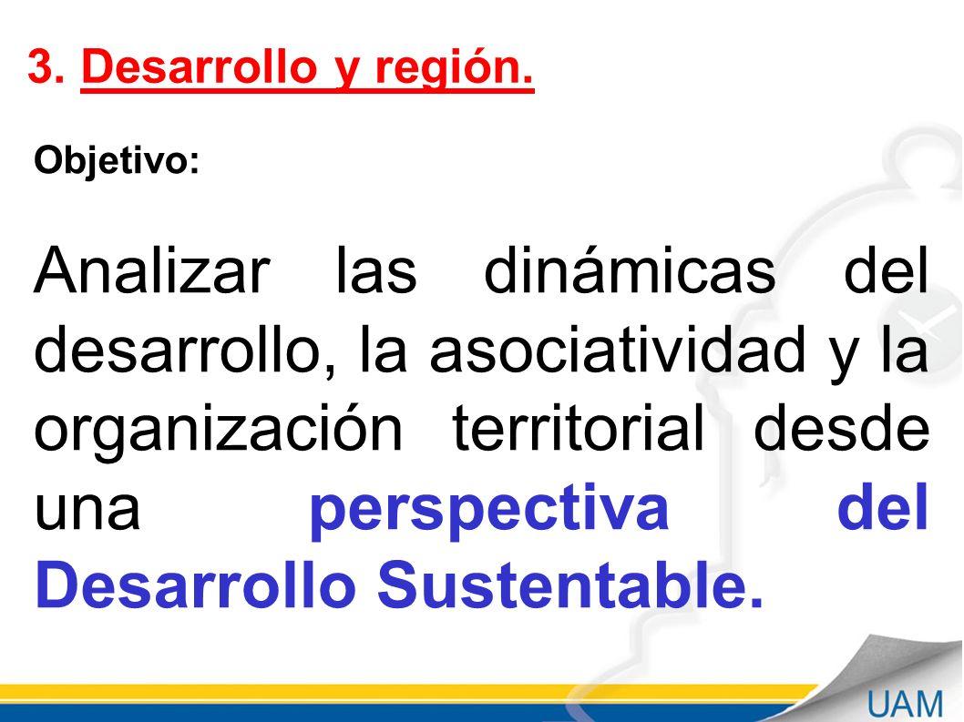 3. Desarrollo y región. Objetivo: